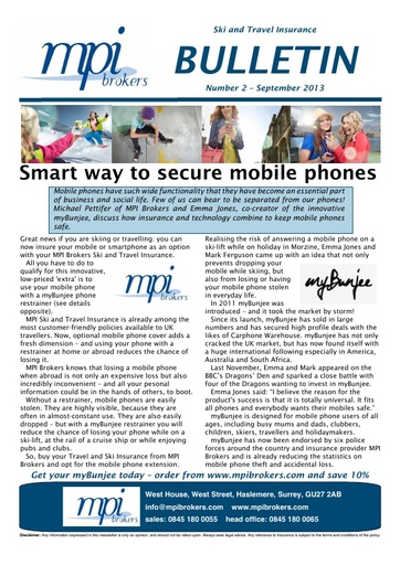 MPI Bulletin 02 - September 2013