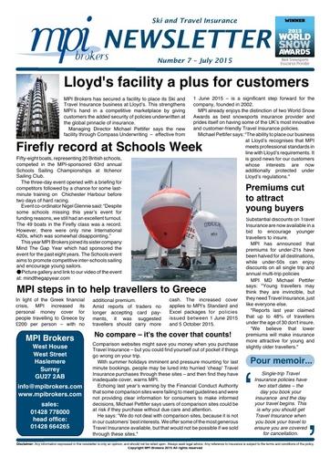 MPI Newsletter 07 - July 2015
