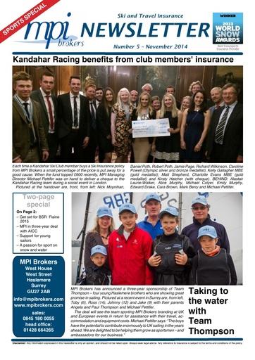 MPI Newsletter 05 - November 2014