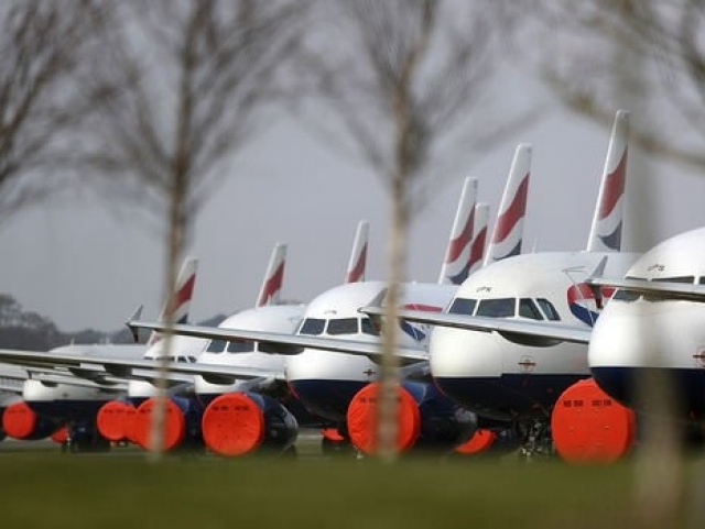 General views of British Airways planes grounded at Bournemouth Airport on March 28, 2020 (Image: Getty Images)