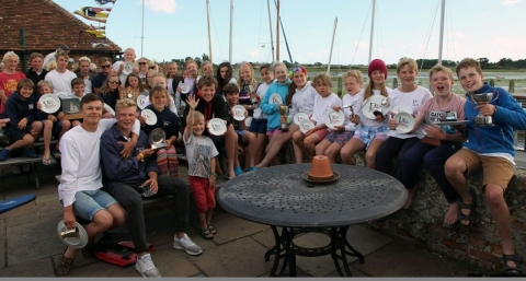 Bosham Sailing Club Junior Week 2017 – Prizegiving